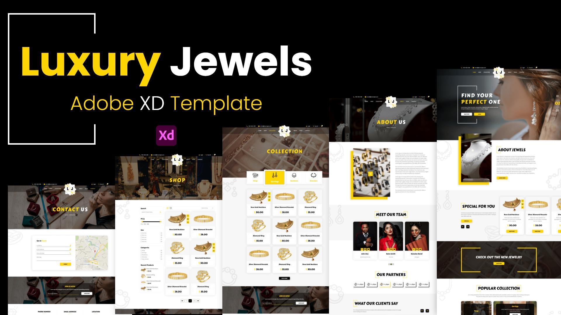 Luxury Jewels – XD Template