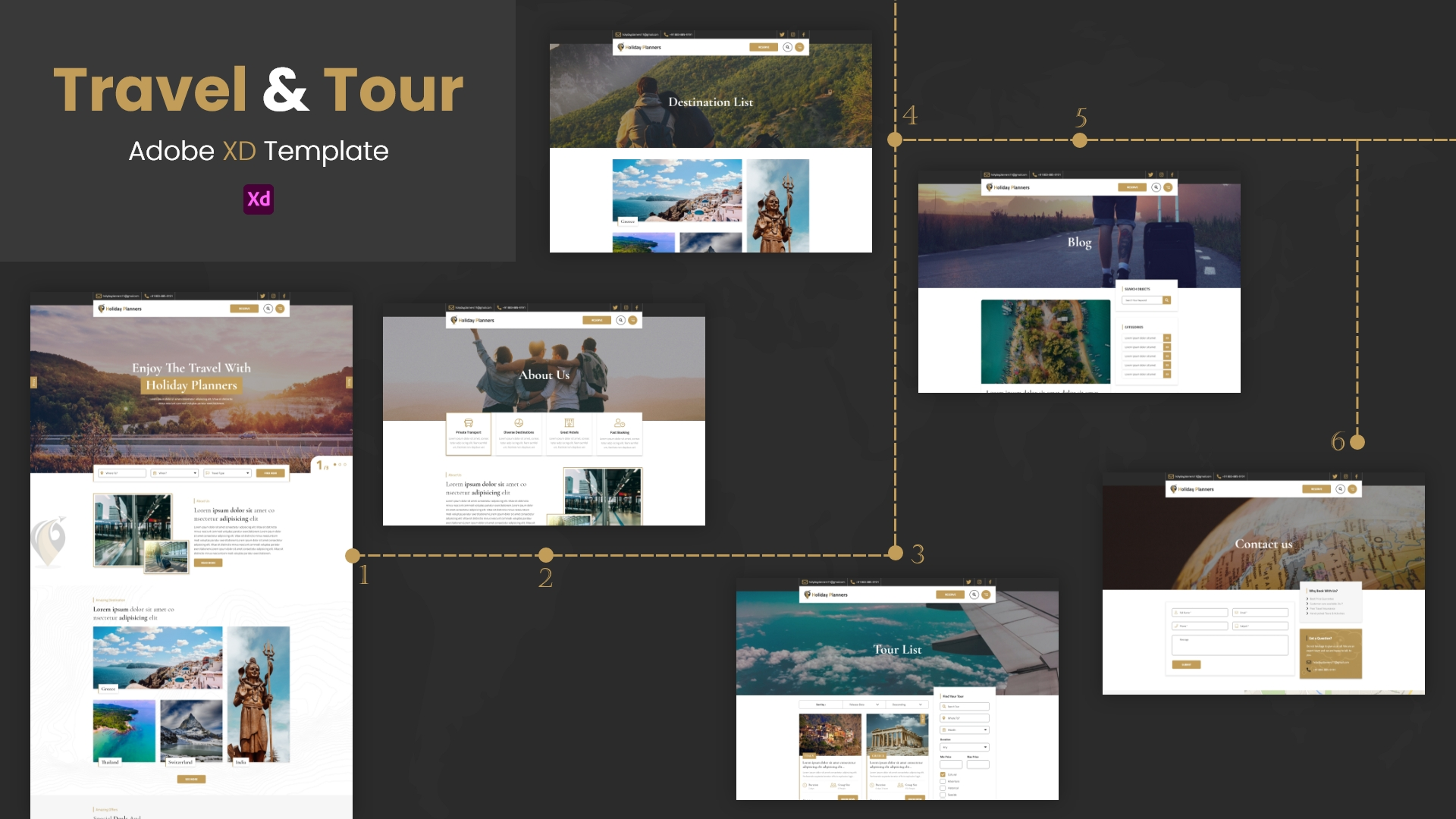 Holiday Planners – XD Template Pro