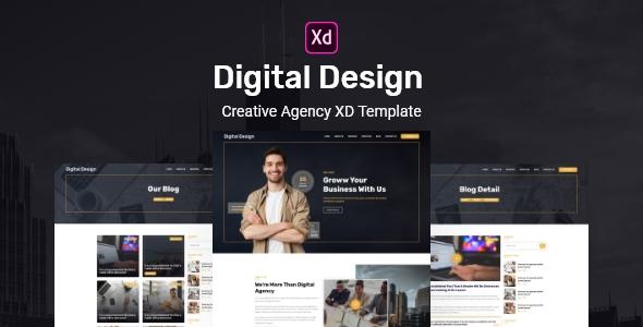 Digital Design – Creative Agency XD Template