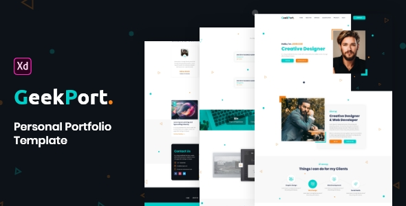 GeekPort – Personal Portfolio XD Template Pro
