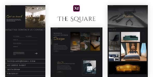 The Square Furniture – XD Template