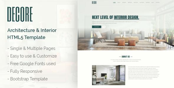 DeCore – Architecture & Interior HTML5 Template