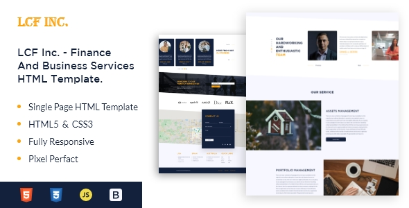 LFC Inc. – Finance & Business Services HTML5 Template
