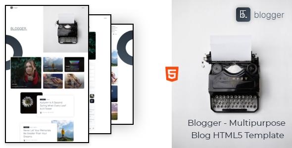 Blogger – Multipurpose Blog HTML5 Template