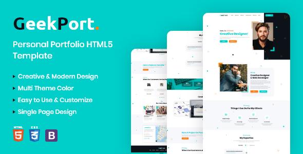 GeekPort – Personal Portfolio HTML5 Template