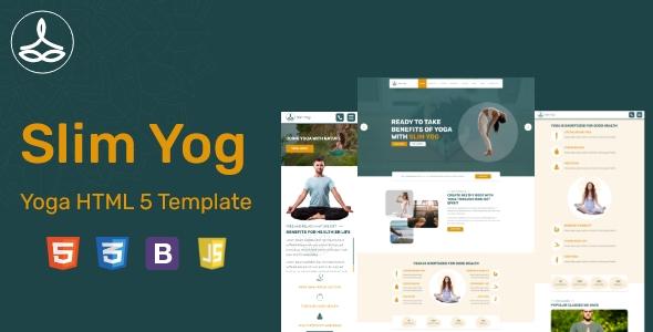 Slim Yog – Responsive HTML5 Template